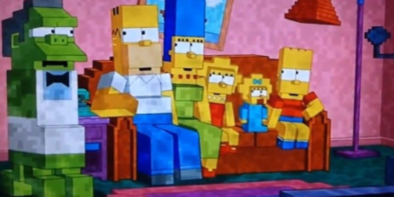 Rindieron homenaje al juego Minecraft. Foto:Fox