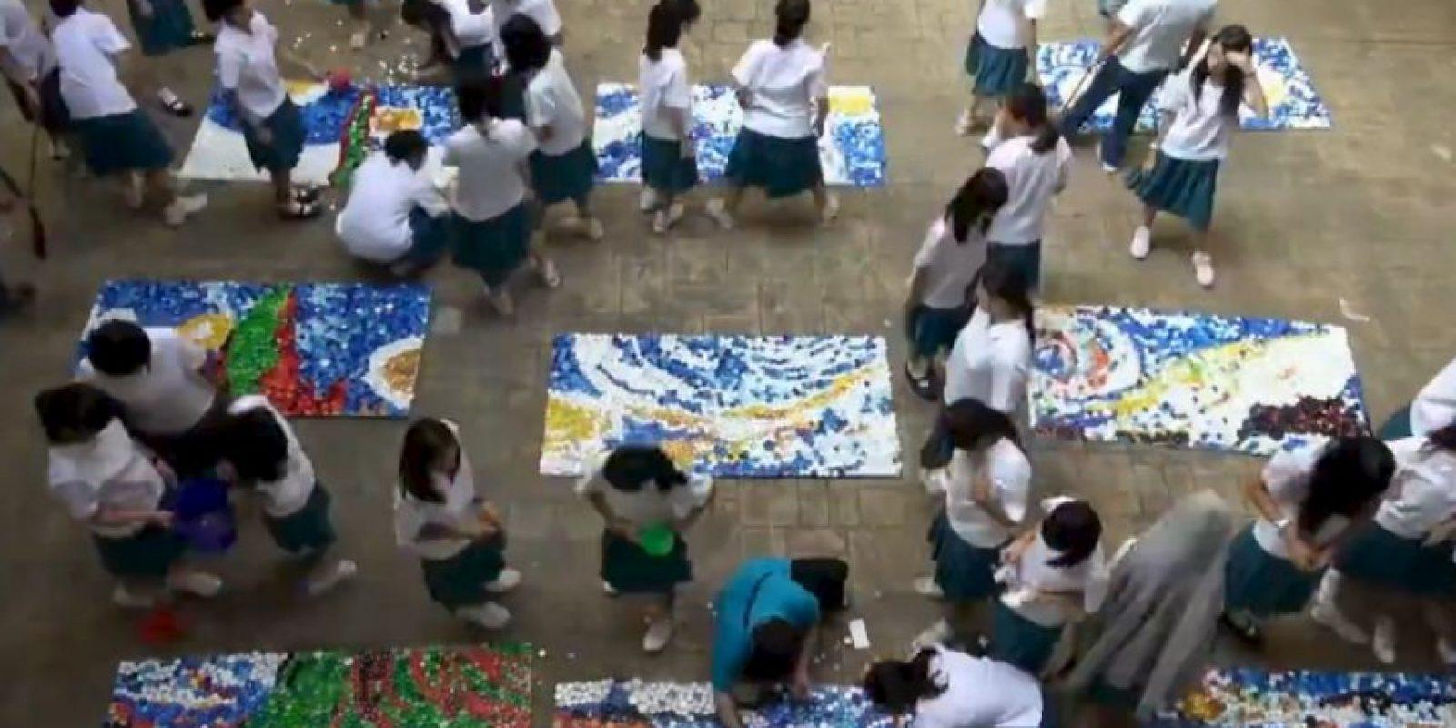 Sin embargo, la obra fue pintada durante el día, de memoria. Foto:Vía facebook.com/www.smgsh.tc.edu.tw
