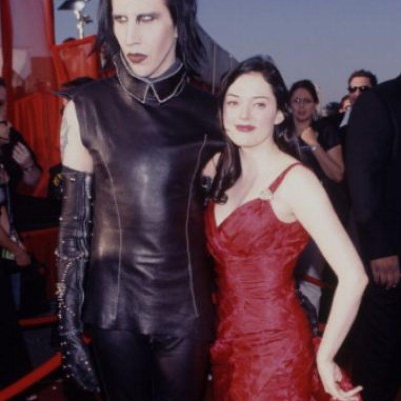 Fue célebre por su relación con Marilyn Manson. Foto:vía Getty Images