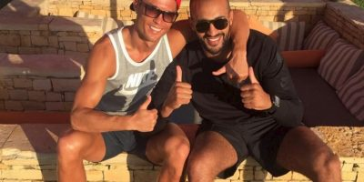 Ambos deportistas han sido vistos juntos en los últimos días y el marroquí se ha convertido en una de las personas más cercanas al portugués. Foto:Vía instagram.com/badrhariofficial