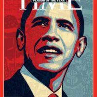 2008- Barack Obama al ganar la presidencia de Estados Unidos. Foto:Vía Time