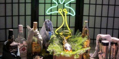 Con bebidas alcohólicas Foto:Vía Instagram/#Pesebre