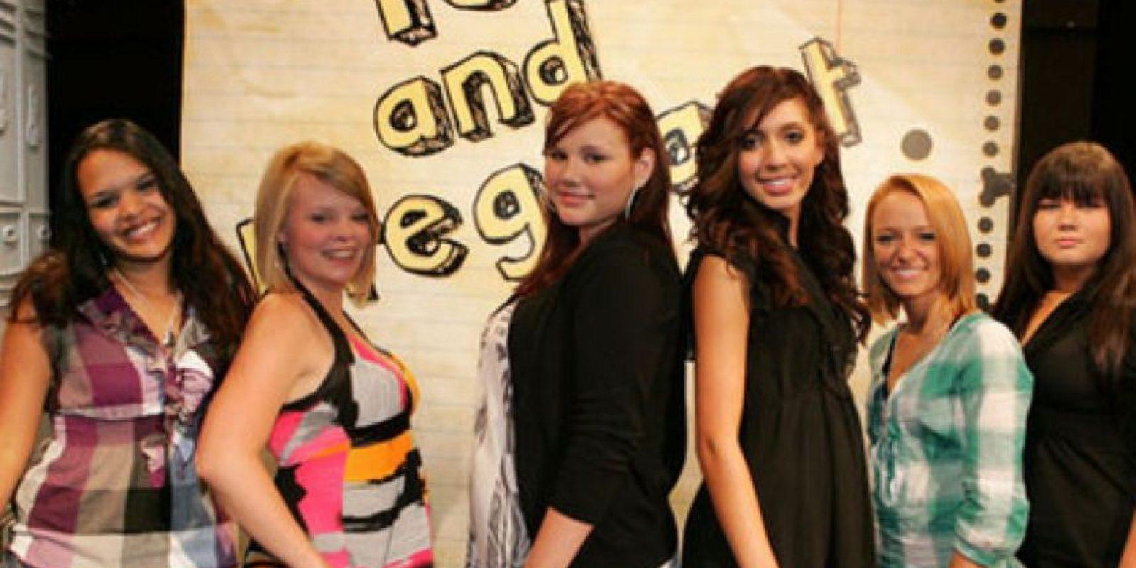 """""""16 and pregnant"""" en su primera temporada contaba la historia de varias madres adolescentes que tenían que lidiar con el peso de sus decisiones. Foto:vía MTV"""