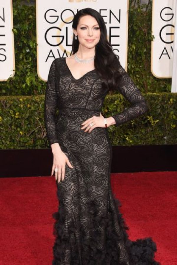 Laura Prepon, como Morticia Addams. Foto: vía Getty Images