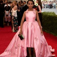 Kerry Washington, con su vestido de prom inspirado en Maria Antonieta porque #original. Foto: vía Getty Images
