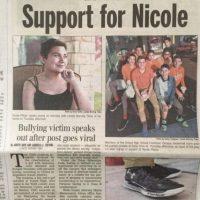 Nicole afirma, por su parte, que no quería llegar a eso. Foto:vía Facebook/Team Nicole