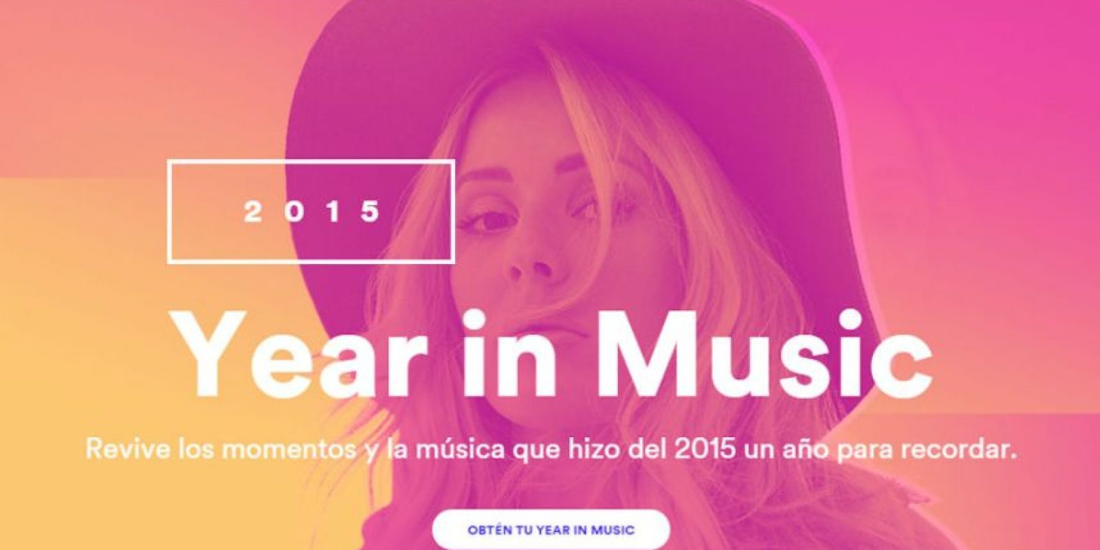"""""""Year In Music"""" les dice todo lo que hicieron en Spotify durante el año. Foto:Spotify"""