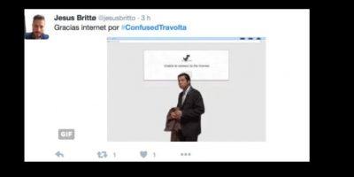 """El meme surgió en 2012, en Imgur. El usuario karmafrapuccino posteó la escena en la que """"Vincent Vega"""" llegaba a la casa de Mia Wallace. Foto:vía Twitter"""