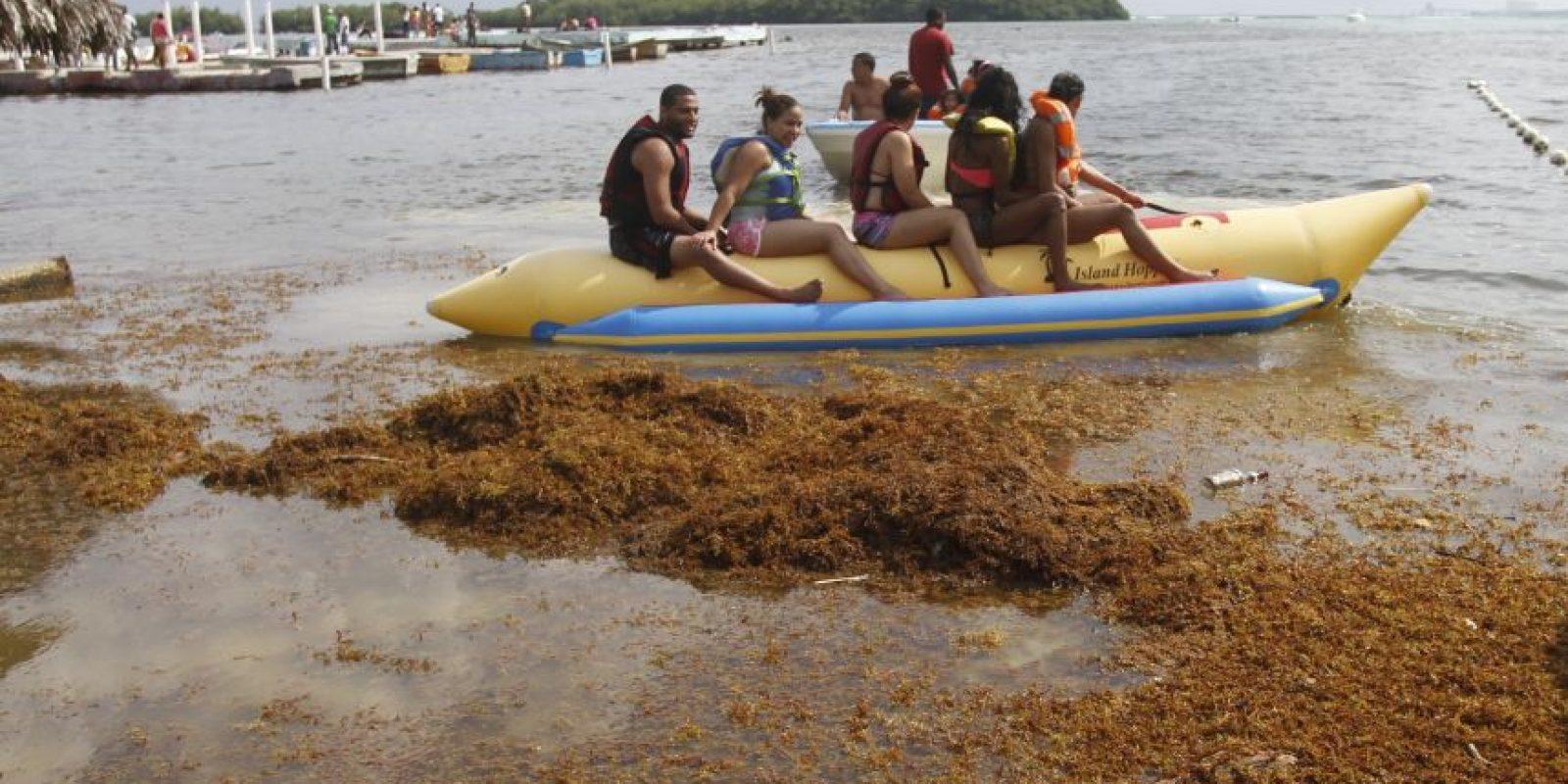 El turismo ha menguado por la llegada de los sargazos. Foto:ROBERTO GUZMÁN