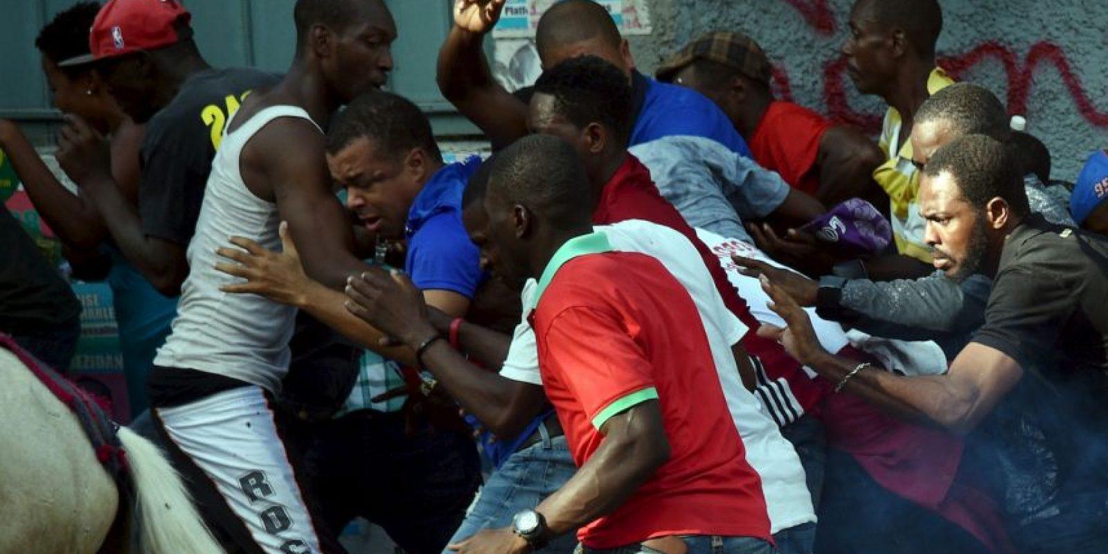 Protestas en Haití contra el Consejo Electoral Provisional (CEP). Foto:AFP