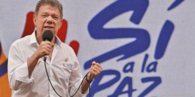 Juan Manuel Santos es el segundo colombiano en ganar un Premio Nobel Foto:AFP