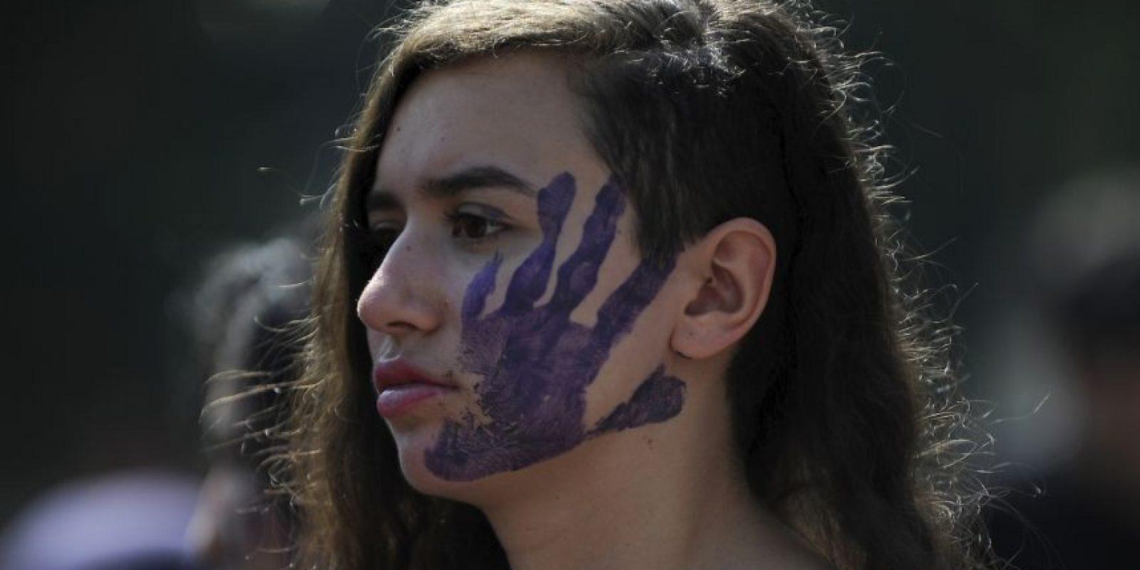 La manifestación #NiUnaMenos se vivió en varias ciudades de América Latina Foto:AFP