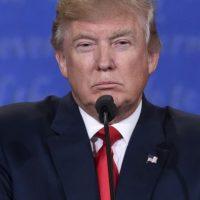 Donald Trump durante el tercer debate presidencial Foto:AFP