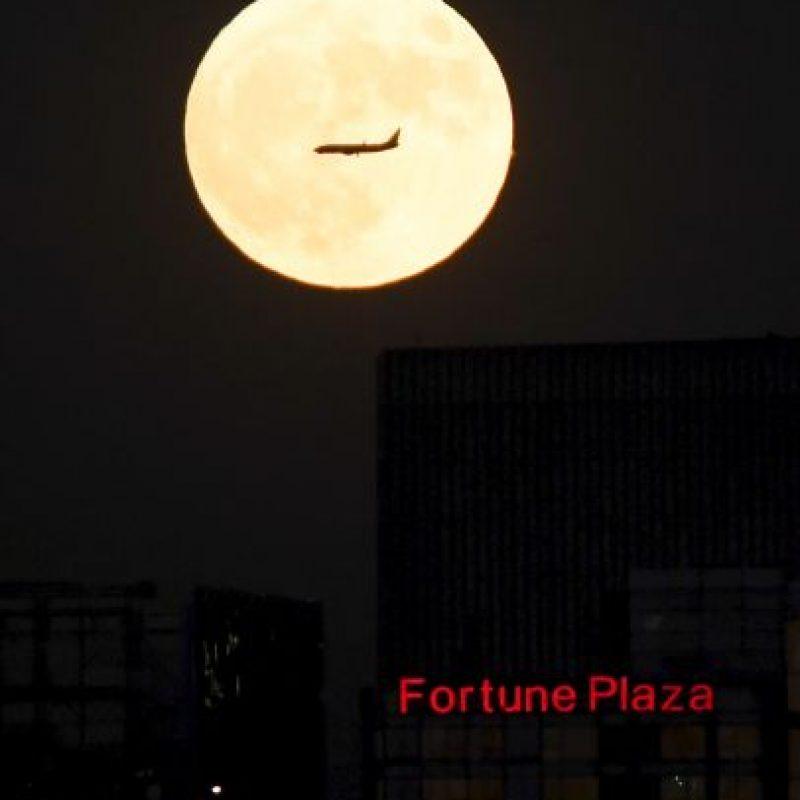 Así se vio en Beijing, China Foto:AFP