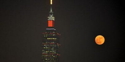 En Taipei, China, en el edificio Taipei 101 Foto:AFP