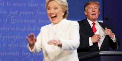 De acuerdo a CNN, Clinton ganó el debate por 52%, contra el 39 de Trump Foto:AFP