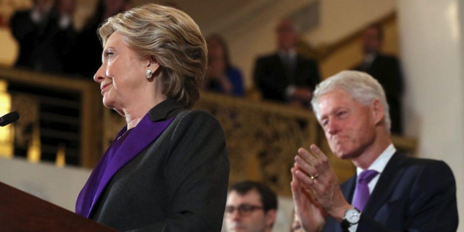 Hillary Clinton ofreció su mensaje de aceptación de la derrota Foto:AFP