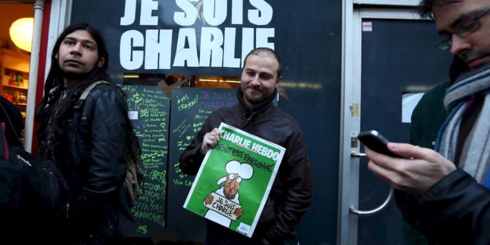 La frase utilizada en aquél momento fue #JeSuisCharlie Foto:AFP