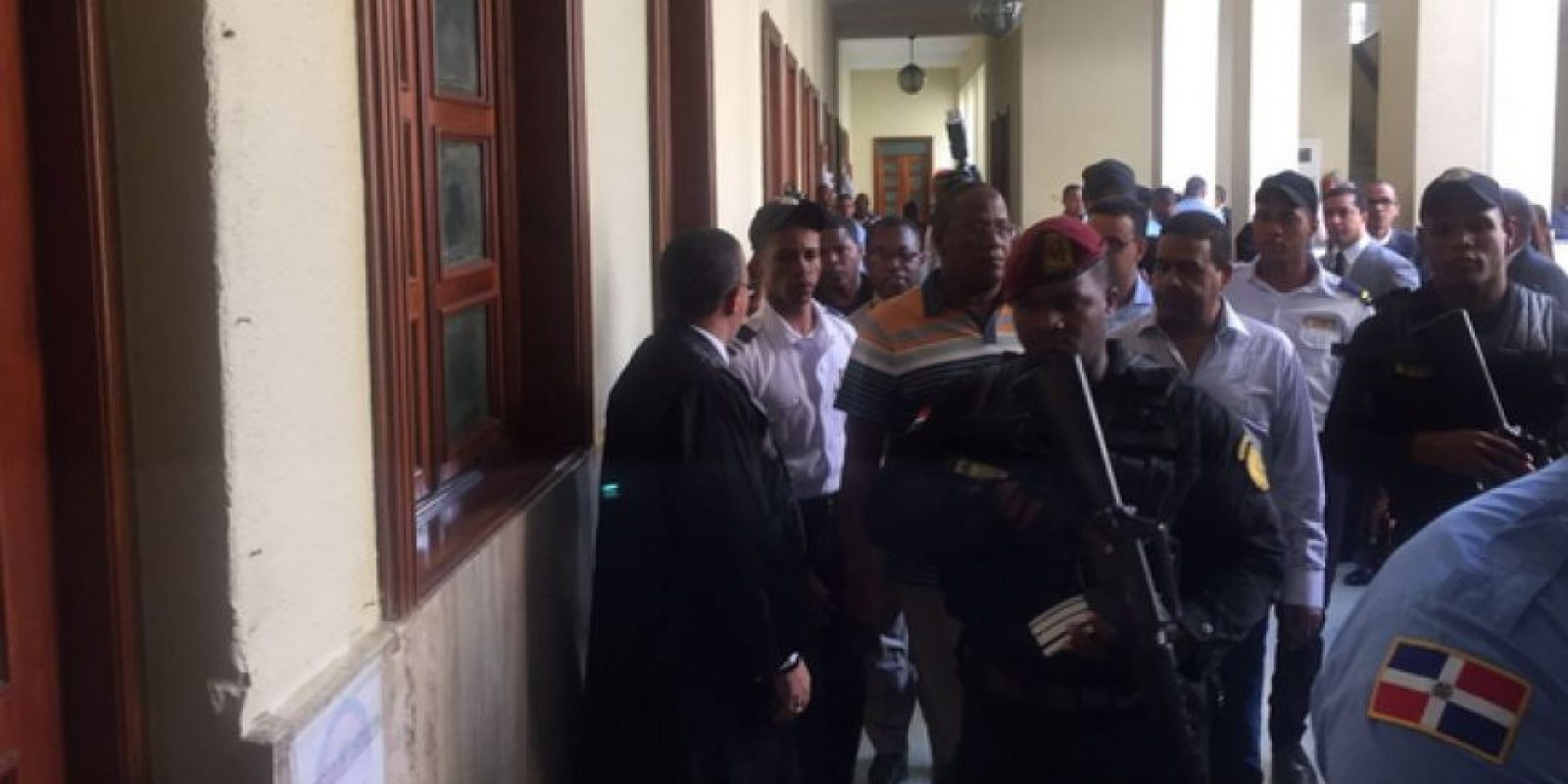 Blas Peralta al momento de llegar al Tribunal Foto:Claudia Rodríguez