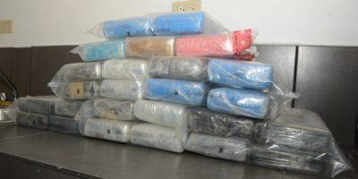 DNCD ocupa 35 paquetes de droga en el Puerto de Haina