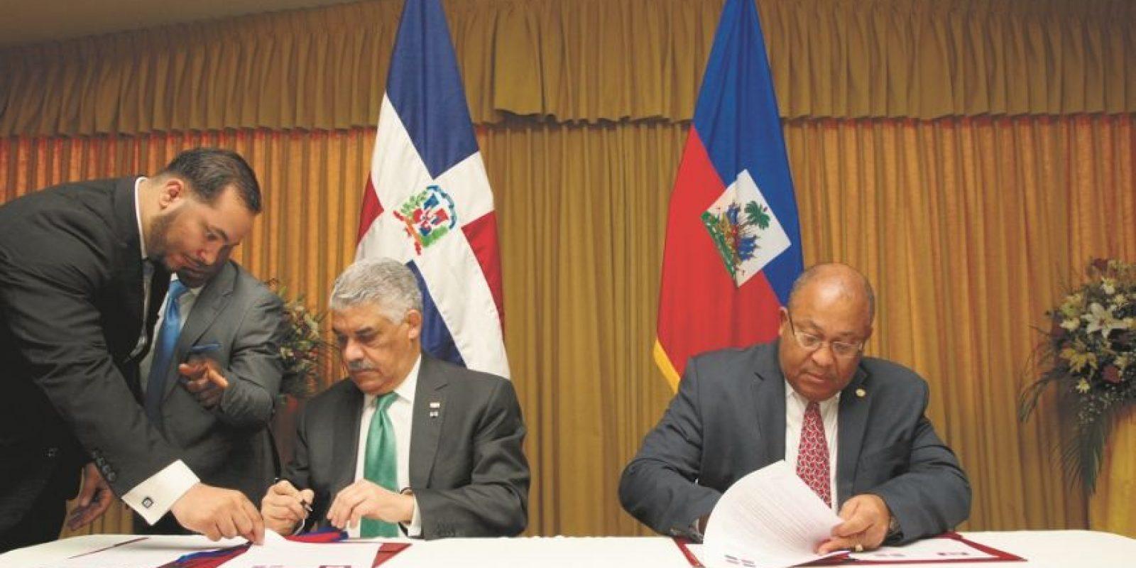 República Dominicana y Haití firmaron un nuevo acuerdo de intención para discutir diversos temas de la agenda común. Foto:Fuente externa