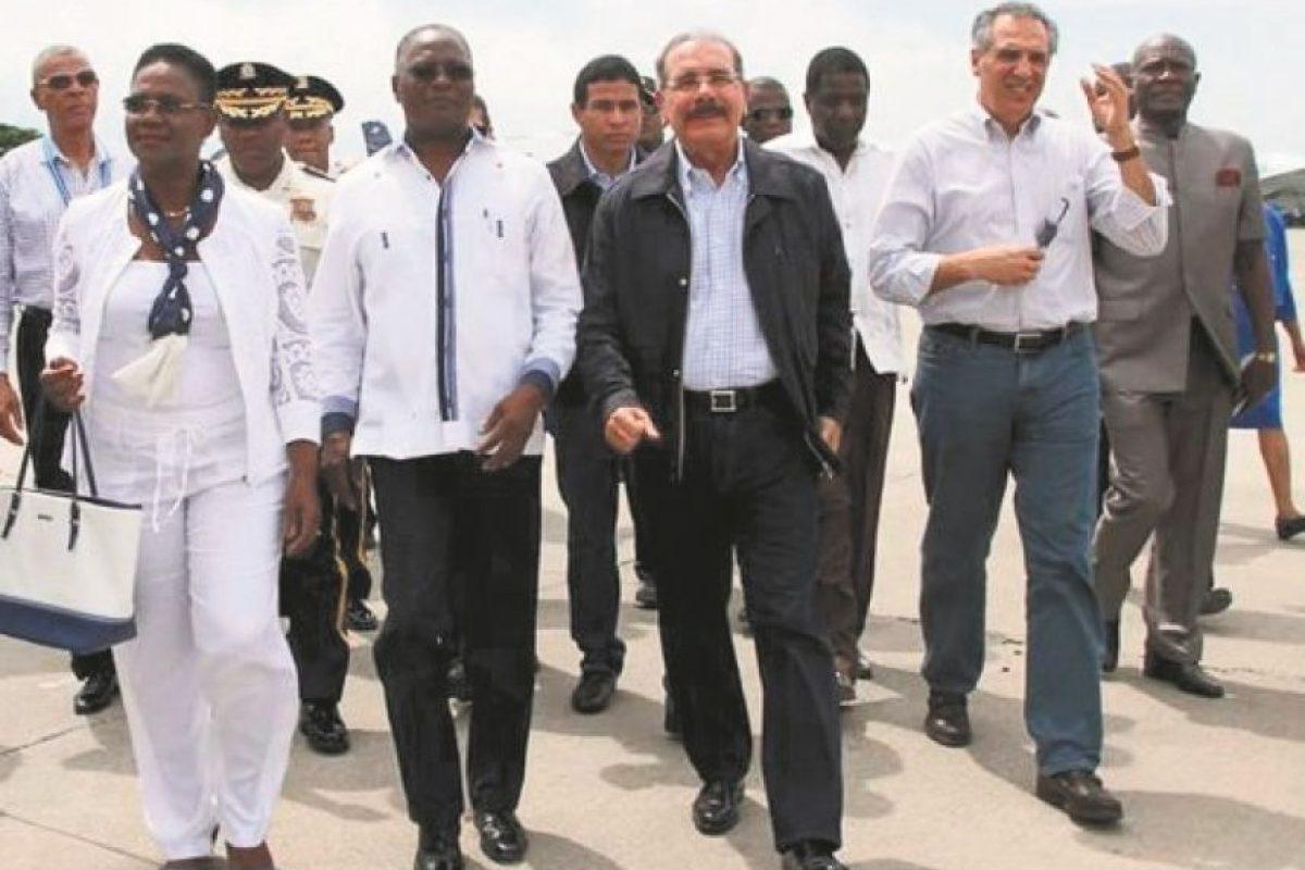 El presidente Medina viajó a Haití y se reune con su homólogo Jocelerme Privert. Foto:Fuente externa