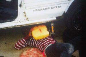 Hombre transportaba la droga en tanque de combustible. Foto:Fuente Externa