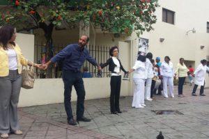 A la lucha se unió Manuel Roble, del movimiento Poder Ciudadano Foto:Fuente Externa