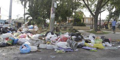 En diferentes sectores de la provincia Santo Domingo se observa gran cúmulo de basura. Foto:Roberto Guzmán