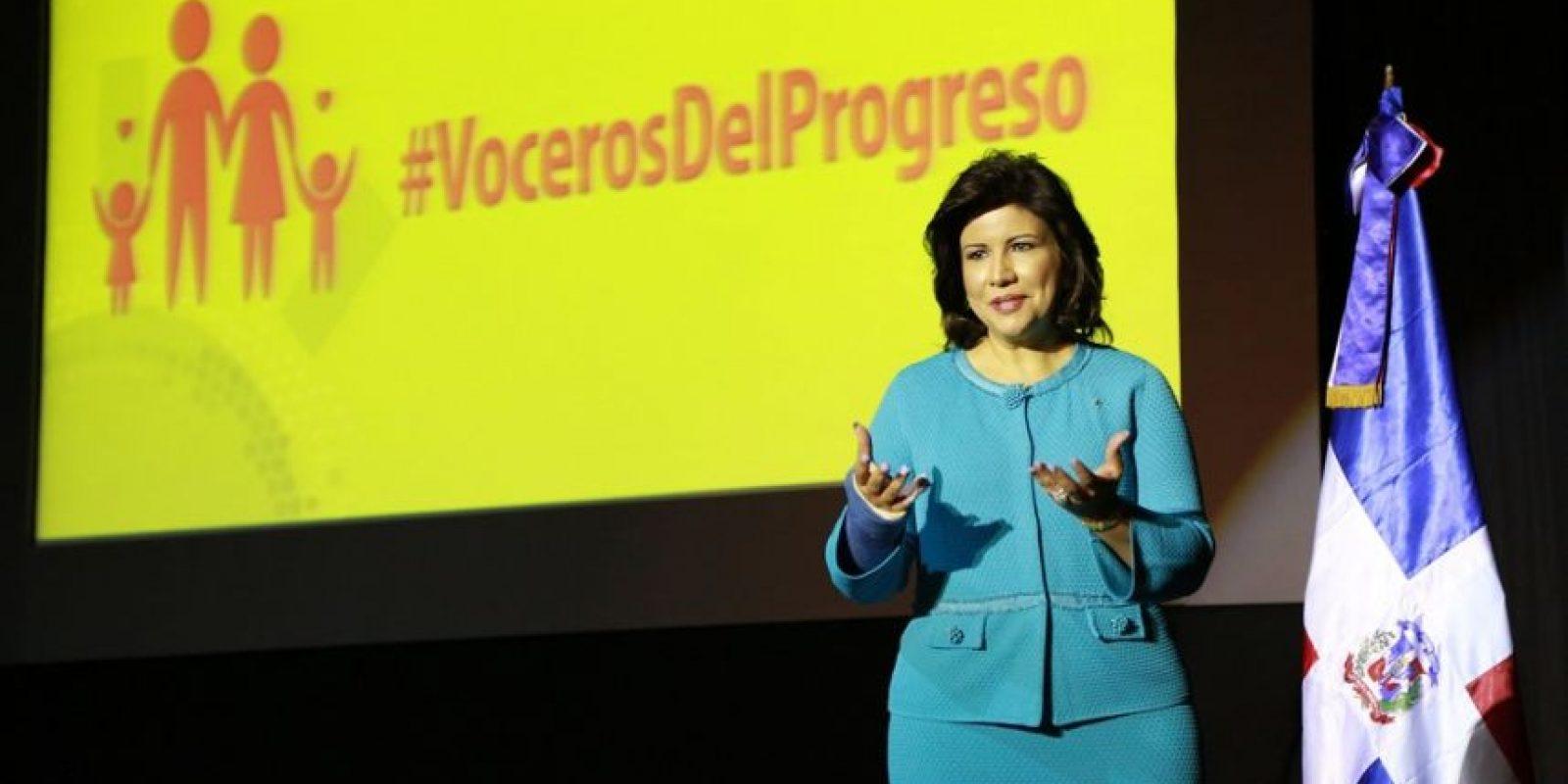 Margarita Cedeño de Fernández, Candidata a la Vicepresidencia y actual vice del Gobierno en turno. Foto:Fuente Externa