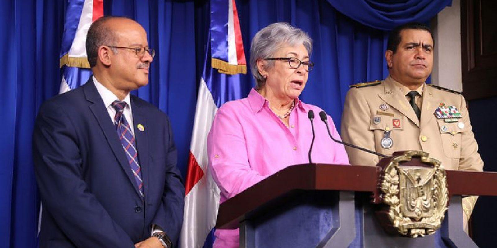 La ministra de Salud ofrece detalles sobre los casos de zika reportados en el país. Foto:Fuente externa