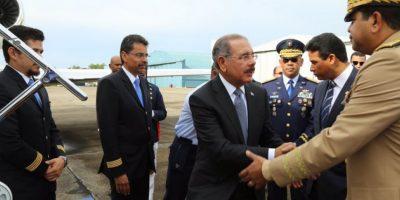 El mandatario mientras iba para Cuba Foto:Presidencia RD