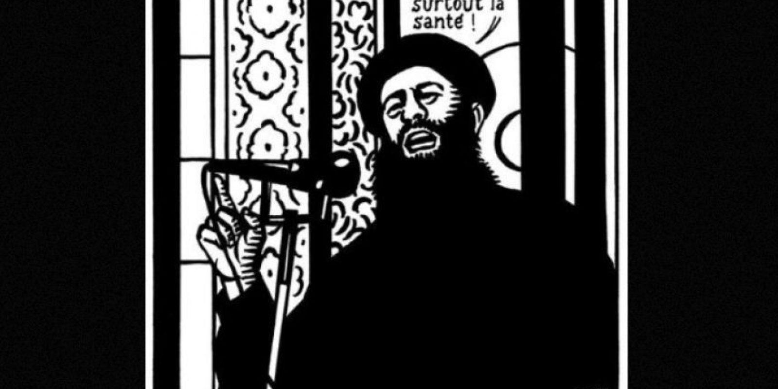 Este fue el último dibujo de Charlie Hebdo antes del atentado de enero Foto:Facebook: Charlie Hebdo Officiel
