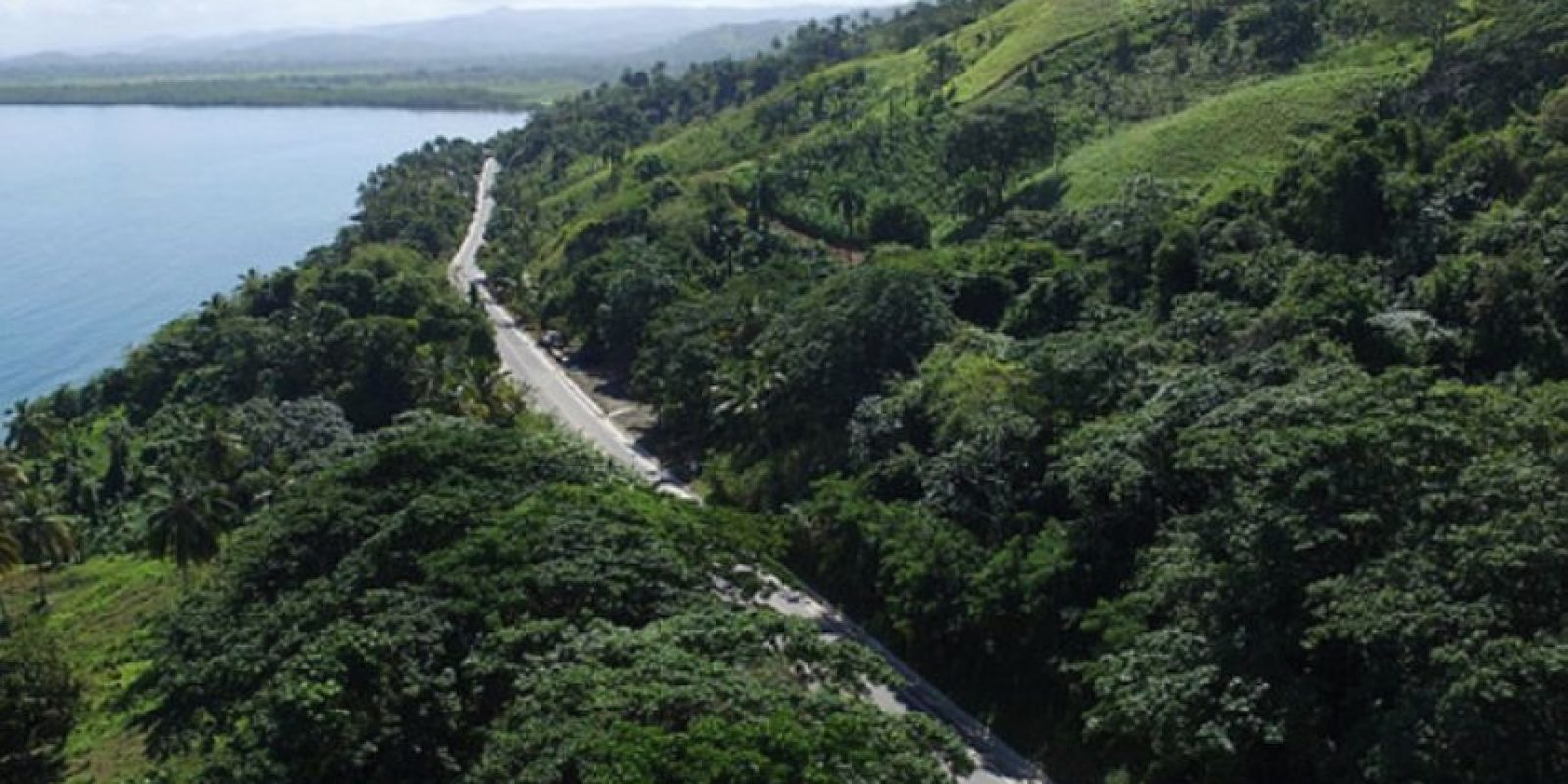 Vista aérea de la carretera Sabana de la Mar-Miches Foto:Fuente Externa