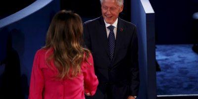 Fue el primer saludo en la noche. Foto:Getty Images