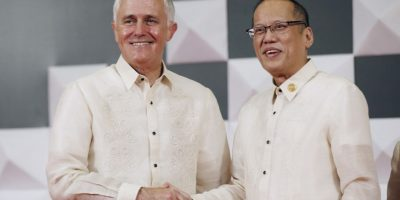 El primer ministro de australia, Malcolm Turnbull y el presidente filipino. Foto:AP