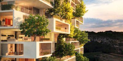 Conozcan el nuevo edificio con árboles integrados