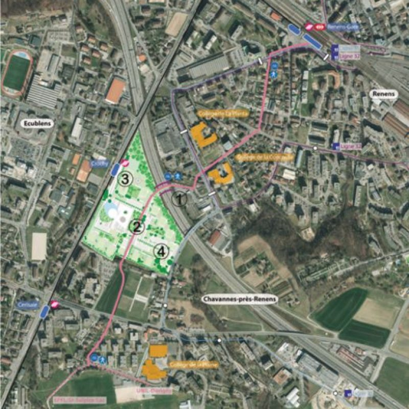 Esta será la ubicación de las nuevas instalaciones en Suiza Foto:Vía lescedres.chavannes.ch