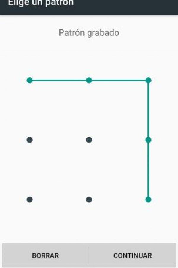 El patrón de desbloqueo más común Foto:Captura