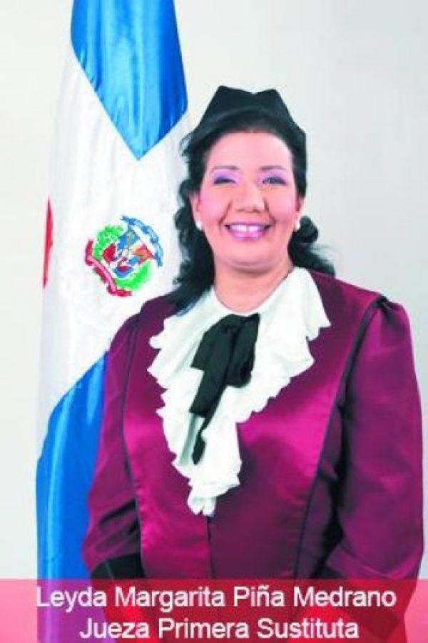 Leyda Margarita Piña. Primera jueza sustituta de presidente del Tribunal Constitucional Foto:Fuente externa