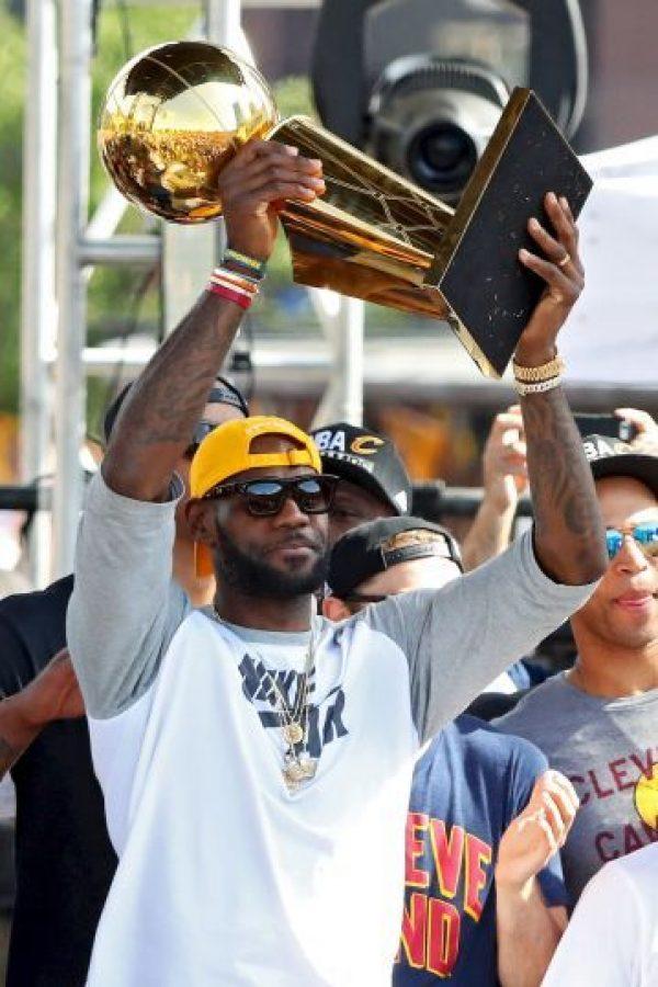 LeBron James imitó a su ídolo y terminó con una espera de títulos de Cavaliers que databa desde 1970 Foto:Getty Images