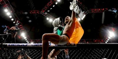 Conor McGregor viene de ganar el título de Peso Ligero al vencer a Eddie Álvarez Foto:Getty Images