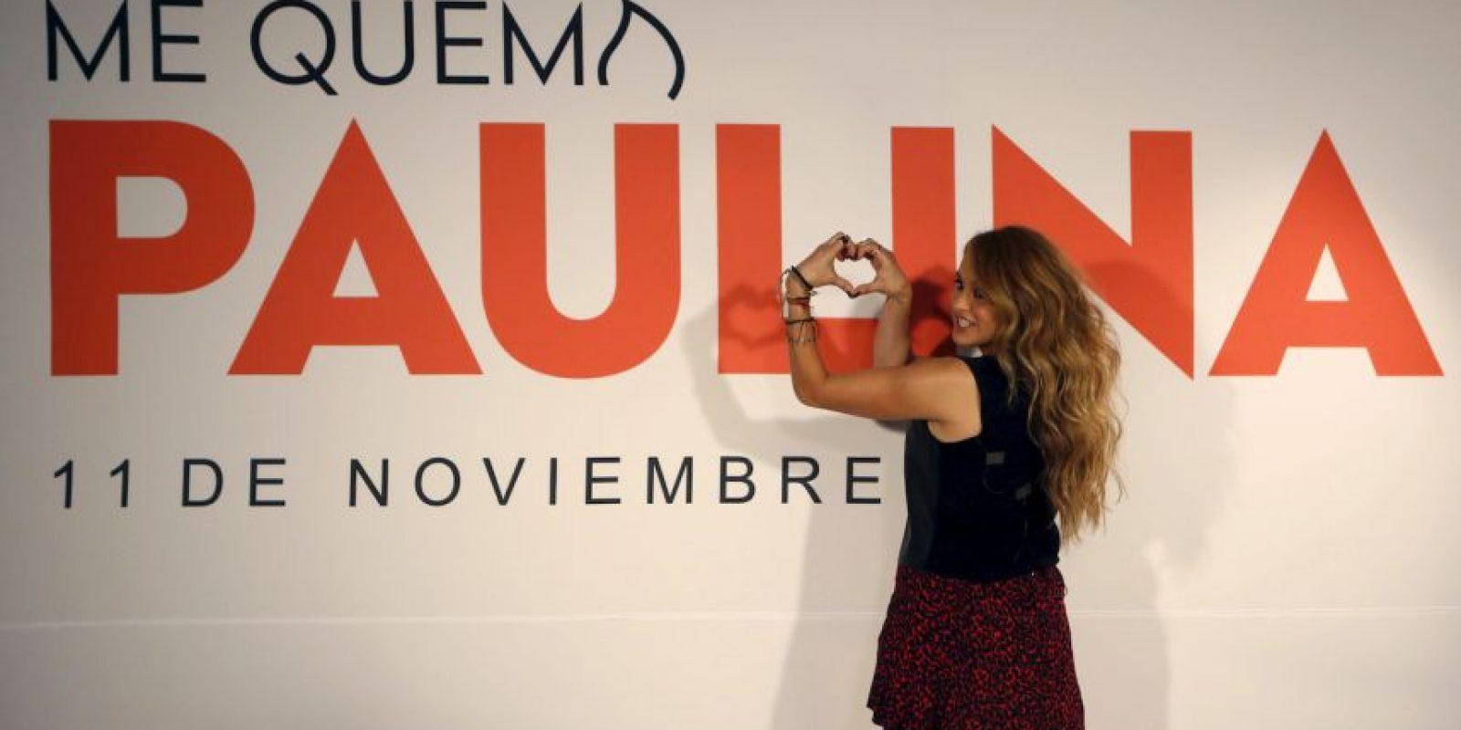 """Paulina Rubio presentó hoy """"Me Quema"""", su nuevo sencillo Foto:AP"""