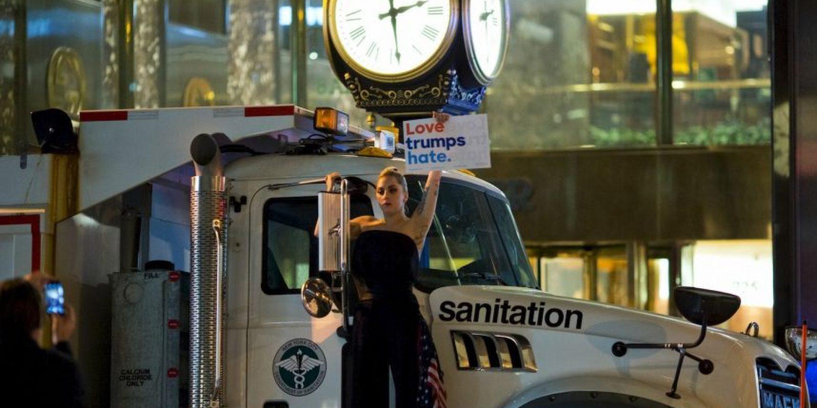 Se manifestó contra Donald Trump Foto:AFP