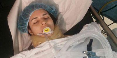 Katherine Alexandra Galantón López, de 27 años, quien se encontraba en un coma profundo tras sufrir un accidente de tránsito en Boca Chica Foto:Fuente Externa