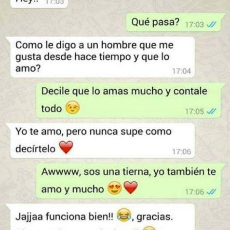 ¡Cuidado con lo que le dicen a su crush en WhatsApp! Foto:Facebook