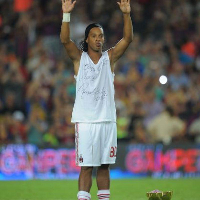 Ronaldinho en su vuelta al Camp Nou Foto:Getty Images