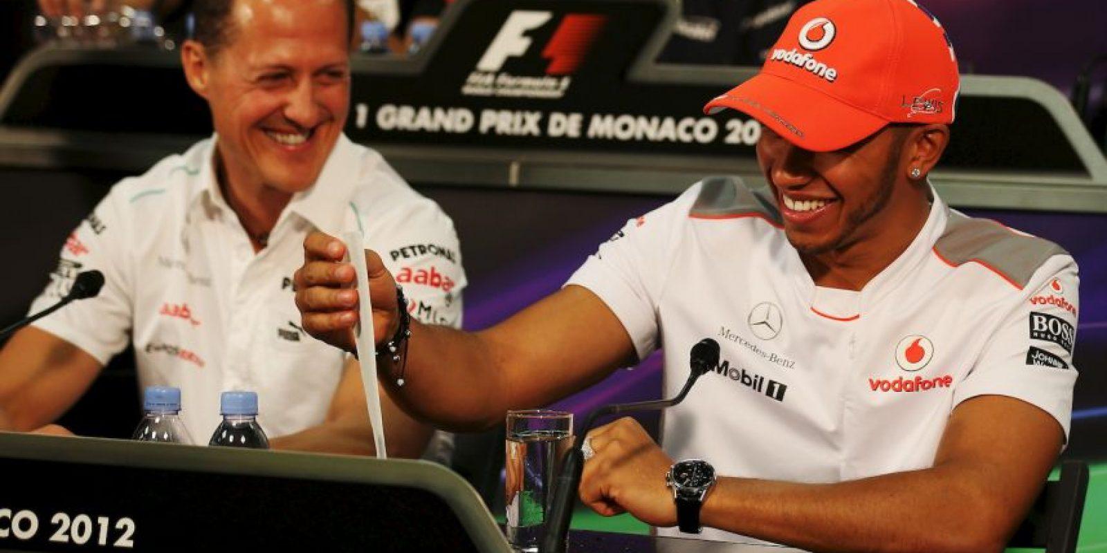 Hamilton reveló que su compañero de equipo en 2013, Michael Schumacher, lo hacía en todas las carreras Foto:Getty Images