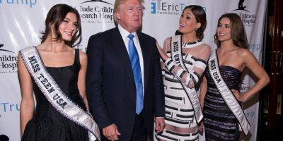 Trump invadía la privacidad de las reinas de belleza Foto:Getty Images