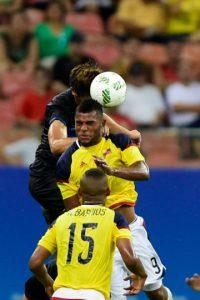Miguel Borja, el goleador colombiano que compite con Lionel Messi Foto:Getty Images